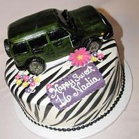 Sweet 16 Jeep Sahara and Zebra Print