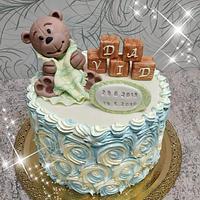 Krstinova torta s medvedikom