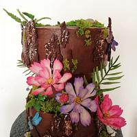 Chocolate and cosmos flower