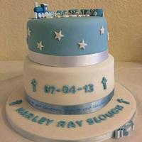 first birthday and christening cake. by Maggie