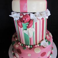 Teddy Bear Escape Baby Shower Cake