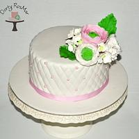 Romantic Cake with Ranunculus