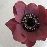 Gumpaste anemone by Sugar Spice