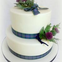 Scottish Thistle Wedding cake by Janice Baybutt