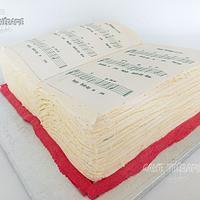 Music book cake.