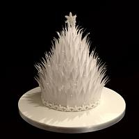 Wafer Paper Christmas Cake