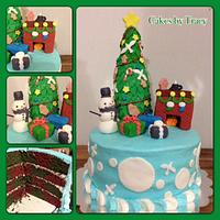 Church Christmas Party Cake