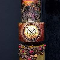 """The Arrival Of Autumn"" Satined Glass Autumn Challange my piece"