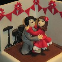 1940s dancing couple