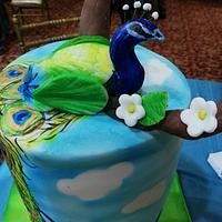 Peacook cake