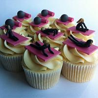 pilates themed cupcakes