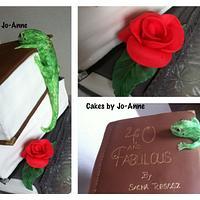 Book Reading Lizard! by Cakes by Jo-Anne