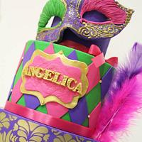 Mardi Gras Quinceanera!  by Hot Mama's Cakes