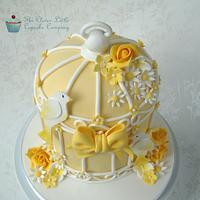Lemon Wedding Birdcage Cake by Amanda's Little Cake Boutique