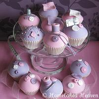 Dressmaker-themed cupcakes