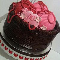 Knitting Basket Cake