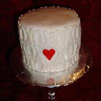 Hugs and Kisses Mini Cake