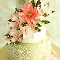 """""""Behold"""" Wedding Cake"""