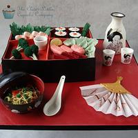 Japanese Bento Box by Amanda's Little Cake Boutique
