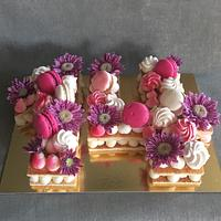 Macaroon and flower