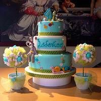 """Torta 1° compleanno """"pupazzi"""""""