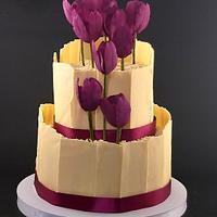 Tulip flower cake