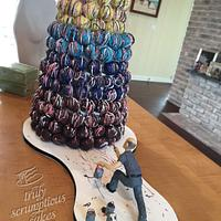 Jackson Polluck Cake Bite Tower