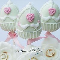 Love Birds Cake Pops by Melanie