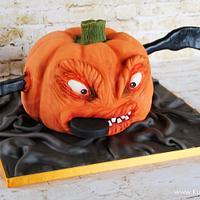 Scary Halloween-Icehockey-Pumpkin