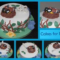 Birds - 40th anniversary cake
