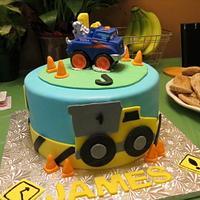 Tonka Truck inspired Cake
