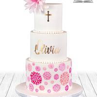 Wafer paper Dahlia Cake