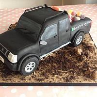 Nissan truck cake