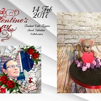 Fondant Cake-Topper - Sweet Valentine Collaboration 2017 bear