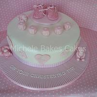 Booties and Bears Christening Cake