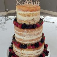 Mr & Mrs Naked Wedding Cake