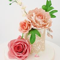Bean paste flowers 💖