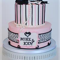 Parisian inspired engagement cake