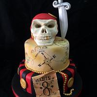 Pirate theme birthday cake