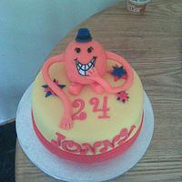 This is where it all began. My first cake. Mr Tickle.