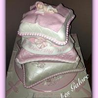 cushion / pillow christening cake