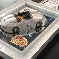 Porsche car cake