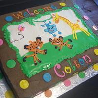 theme baby shower cake