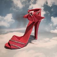 First stilleto shoe