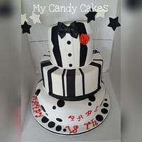 Smoking wonky cake