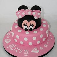 Minnie Mouse in pink