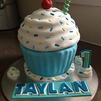 Giant 1st birthday Cupcake