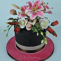 Floral 40th Cake