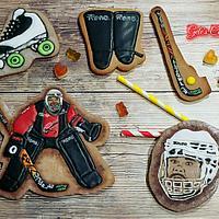 Roller hockey cookies
