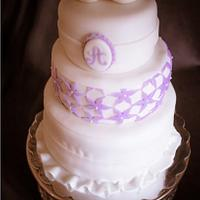 Wedding Cake with Edible Doves